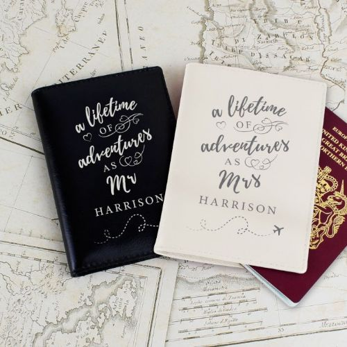 Personalised 'Lifetime of Adventures' Mrs and Mrs Passports